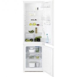Electrolux Refrigerator 	ENN12800AW Built-in, Combi, Height 177.2 cm, A+, Fridge net capacity 202 L, Freezer net capacity 75 L,
