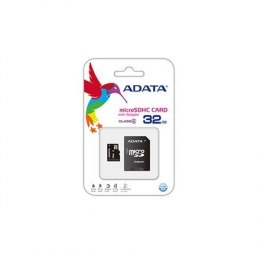 ADATA 32 GB, MicroSDHC, Flash memory class 4, SD adapter