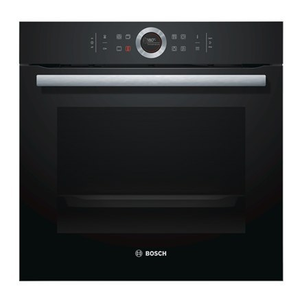 Bosch Oven HBG672BB1S Built in, 71 L, Black, Pyrolysis, A+, Control ring with all text and symbols, Height 60 cm, Width 60 cm, I