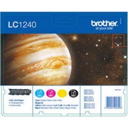 Brother LC1240 Multipack Ink Cartridge, Black, Cyan, Magenta, Yellow