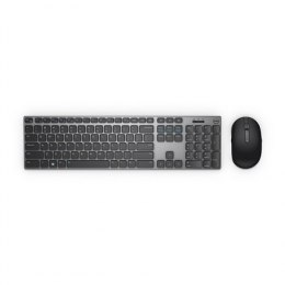 Dell Keyboard and mouse KM717 Premier, Wireless, Keyboard layout Russian, Bluetooth, Mouse included, USB, Black, Wireless conne