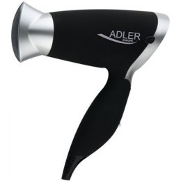 Hair Dryer Adler Foldable handle, Motor type DC, 1250 W, Black/Silver