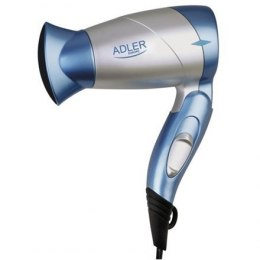 Hair Dryer Adler Foldable handle, Motor type DC, 1300 W, Blue/Silver