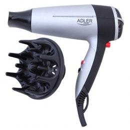 Hair Dryer Adler Foldable handle, Motor type DC, 2000 W, Biały/Black