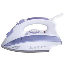 Iron Adler AD 5011 Biały/Purple, 2000 W, With cord, Anti-drip function, Anti-scale system, Vertical steam function, Water tank c