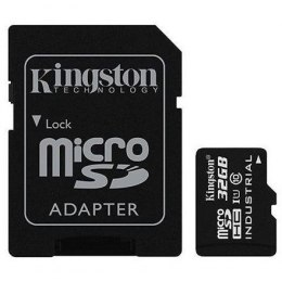 Kingston Industrial Temperature UHS-I U1 32 GB, MicroSDHC, Flash memory class 10, SD Adapter