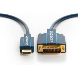 Clicktronic 70342 HDMI™ / DVI adaptor cable, 3 m Clicktronic