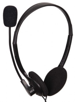 Gembird Stereo headset MHS-123 3.5 mm audio plug, Black, Built-in microphone