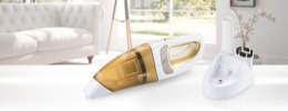 ETA Vacuum cleaner VERTO II Handheld, White/ orange, 6 W, 0.4 L, HEPA filtration system, Cordless, 9.6 V, 15 min