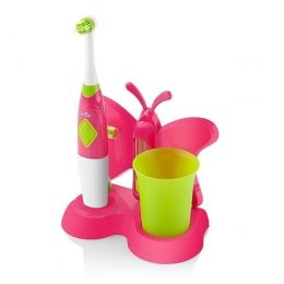ETA Toothbrush with water cup and holder Sonetic 1294 90070 For kids, Pink / light green, 2, Number of brush heads included 2