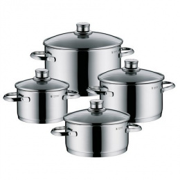 WMF Sapphire 4-Piece Saucepan Set 4, 2,5; 1,9; 3,3; 5,7 L, Cromargan 18/10 stainless steel, Stainless steel, Dishwasher proof