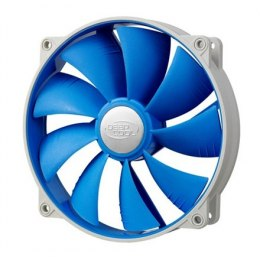 Deepcool 140mm BLUE Ultra silent fan with PWM and De-vibration TPE cover, with 120 mm mounting holes for case, coolers and psu