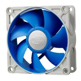 Deepcool 80mm Ultra silent fan with patented De-vibration TPE cover, BLUE, for case and psu deepcool