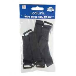 Logilink Velcro cable strap KAB0056 Black, 10 pc(s)