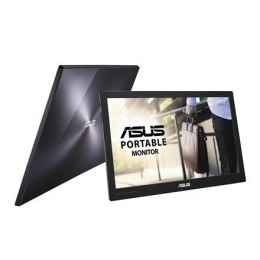 "Asus Portable Monitor MB169C+ 15.6 "", IPS, 1920 x 1080 pixels, 16:9, 220 cd/m², Black, Silver"