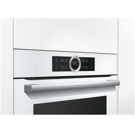 Piekarnik Bosch Biały HBG672BW1S Oven Multifunction, 71 L, White, Pyrolysis, Rotary and electronic, Height 60 cm, Width 60 cm