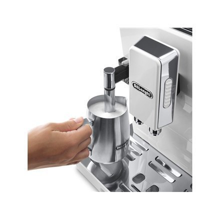 Delonghi Eletta Cappuccino TOP Coffee maker ECAM 45.760.W Pump pressure 15 bar, Built-in milk frother, Fully automatic, 1450 W,