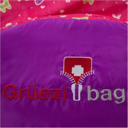 Gruezi-Bag Kids Grow Butterfly sleeping bag, 140-180x65(45)cm, Left zipper Gruezi-Bag Kids Grow Butterfly, Left side