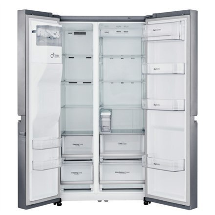 LG Refrigerator GSL761PZUZ Free standing, Side by Side, Height 179 cm, A++, No Frost system, Fridge net capacity 405 L, Freezer